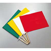 手旗 300×420mm カラー:緑 (245002)