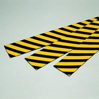 トラクッション 平板タイプ (反射) 黄・黒 サイズ:100×1000×5mm (247041)