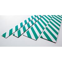 トラクッション 平板タイプ (無反射タイプ) 緑/白 サイズ:100×1000×8mm (247052)
