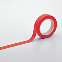クリーンルーム用ラインテープ(帯電防止タイプ) 赤 サイズ:25mm幅 (259014)
