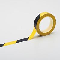 クリーンルーム用ラインテープ(帯電防止タイプ) 黄/黒 サイズ:25mm幅 (259016)