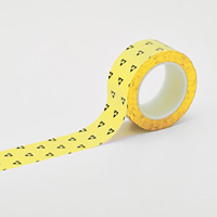 クリーンルーム用ラインテープ(帯電防止タイプ) 黄 サイズ:50mm幅 (259023)