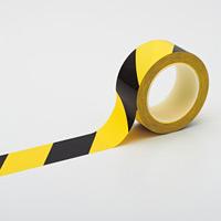 クリーンルーム用ラインテープ(帯電防止タイプ) 黄/黒 サイズ:50mm幅 (259026)
