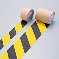 滑り止めテープ 蛍光黄×黒 3m巻 サイズ:25mm幅 (260080)