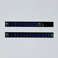 デジタルサーモテープ 10mm幅×92mm 30枚入 温度範囲:6〜34度 (270101)