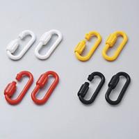スクリュージョイント 線径6mmφ 2個1組 カラー:イエロー (284112)