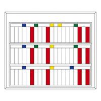 マグネットネームプレートケース 仕様:60人用 (303003)