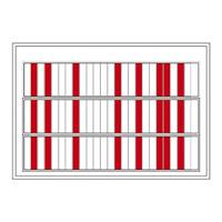 名札ケース 回転ネーム表示盤 仕様:75人用・部署札 (青/青) 6枚付 (303013)