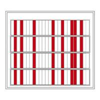 名札ケース 回転ネーム表示盤 仕様:100人用・部署札 (青/青) 8枚付 (303014)