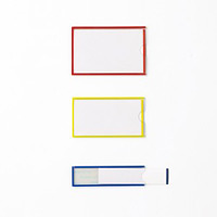 イージーケース(ハードタイプ) 10枚1組 61×92mm(本体) 枠カラー:黄 (305151)