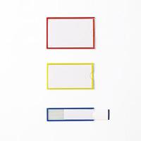 イージーケース(ハードタイプ) 10枚1組 50×90mm(本体) 枠カラー:黄 (305161)