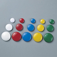 丸型カラーマグネット 白 10個1組 サイズ:40mmφ (312091)