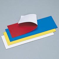 カラーマグネットシート 100×300 両面仕様 カラー:レッド/ホワイト (312350)