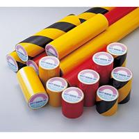 粗面用反射テープ 200mm幅 カラー:トラ 黄・黒 (319033)