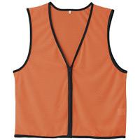 メッシュゼッケン (前開きタイプ) カラー:蛍光オレンジ (320022)