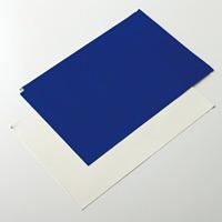 粘着クリーンマット 普通粘着タイプ 12シート1組 サイズ/カラー:600×1200mm /青 (322034)