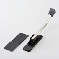 ドアピタット マグネット式ドアストッパー (黒) 230×30mm×D25mm (342051)