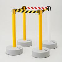 バリアースタンド スタート&キャッチャータイプ ポール色:黄 ベルト色:黄/黒 (368012)