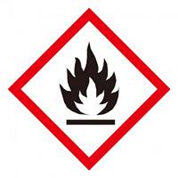 化学物質関係標識 GHSラベル 炎 5枚入り サイズ: (中) ◇一辺/70mm (037201)