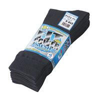 フィットパワーメッシュ靴下(4足組)BK