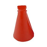 プラスチックメガホン レッド 5個1組 (380163)