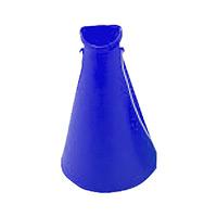 プラスチックメガホン ブルー 5個1組 (380165)