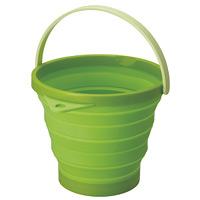 伸縮式ソフトバケツ(緑)