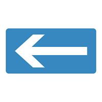 JIS配管識別明示ステッカー 水関係 (ヨコ) 左矢印 10枚1組 サイズ: (S) 30×60mm (383230)