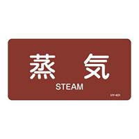 JIS配管識別明示ステッカー 蒸気関係 (ヨコ) 蒸気 10枚1組 サイズ: (S) 30×60mm (383401)
