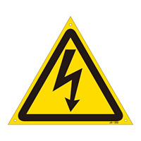 JIS安全標識 (警告) 危険マークのみ サイズ:300mm三角 (391202)