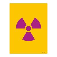 JIS放射能標識 400×300 表記:文字無 (392501)