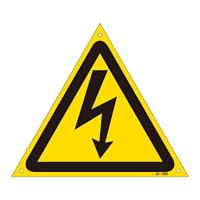 JIS安全標識 (警告) 危険マークのみ サイズ:225mm三角 (393202)