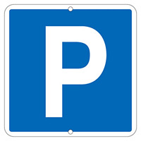 道路標識 600mm角×1mm 表示:Pマーク (133310)