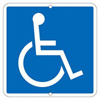道路標識 600mm角×1mm 表示:車椅子マーク (133320)