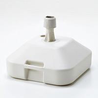 のぼり旗用ポール台 (注水型タイプ) カラー:白 (255120)