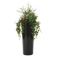 【2019年新商品】【送料無料】寄せ植えユッカ (造花) 高さ130cm 光触媒 ( 727A600)