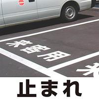 道路表示シート 「止まれ」 白ゴム 300角 (835-024W)