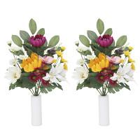 【2019年新商品】上仏花中2個セットN (造花) 高さ33cm ※光触媒ではありません (855A35N)
