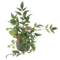 南天H (人工観葉植物) 高さ26cm 光触媒機能付 (914A30)