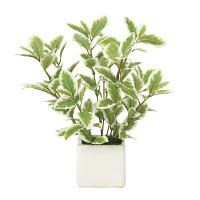 ミニリーフG/W (人工観葉植物) 高さ21cm 光触媒機能付 (935A25)
