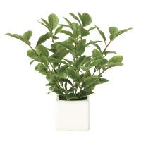 【2019年新商品】ミニリーフ (人工観葉植物) 高さ21cm 光触媒 (936A25)