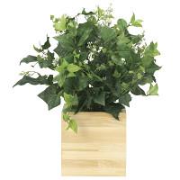 【送料無料】ウッドボックスK (人工観葉植物) 高さ50cm 光触媒機能付 (937A150)