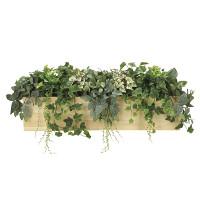 【送料無料】ウッドボックスL (人工観葉植物) 高さ40cm 光触媒機能付 (939A350)
