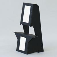 ブラック紙スタンド(紙製ボード立て) キャビネサイズ対応 10枚入 KSBM-11