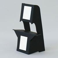 ブラック紙スタンド(紙製ボード立て) ハガキサイズ対応 10枚入 KSBM-12