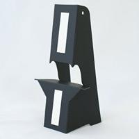 ブラック紙スタンド(紙製ボード立て) A3・B4パネル対応 10枚入 KSBP-3