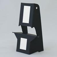 ブラック紙スタンド(紙製ボード立て) A4・B5パネル対応 10枚入 KSBP-4