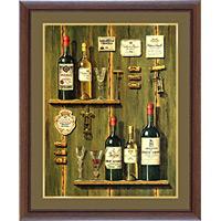 アートポスター 「フレンチ ワイン 1」 F・ビルヌーブ作