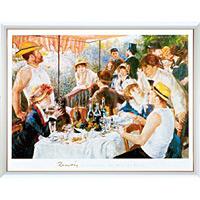 アートポスター 「船遊びの昼食」 ルノアール作