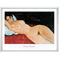 アートポスター 「リクライニング ヌード」 モジリアーニ作
